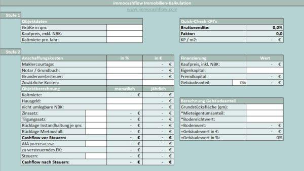 Update Immocashflow Immobilien Kalkulationstool Kostenfreier Download