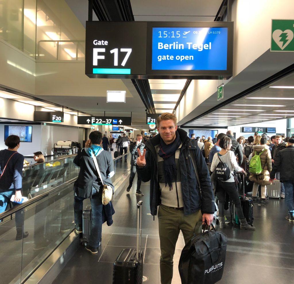 Abflug Wien-Berlin-Oslo