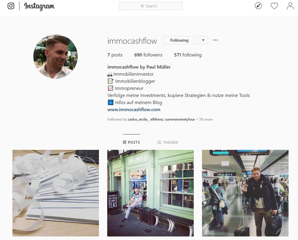 Instagram immocashflow Immobilienakquise