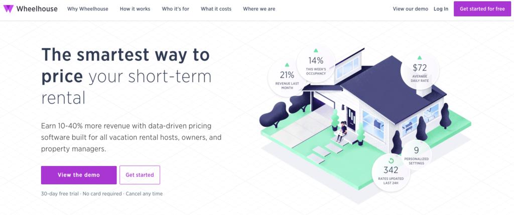 Wheelhouse Pricing Tool für Kurzzeitvermietung über Airbnb