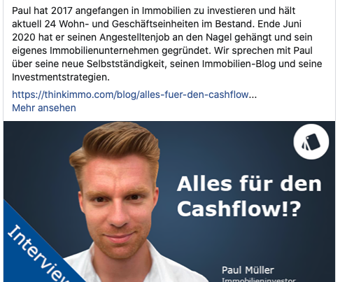 Interview zum Thema Immobilieninvestments | immocashflow