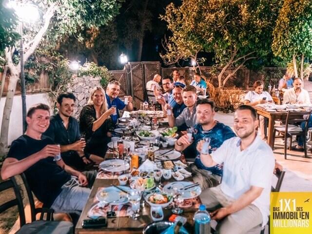 Abschlussdinner Immobilien Mastermind Nordzypern | immocashflow