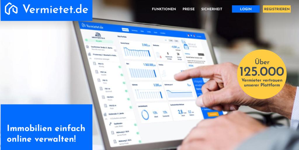 Online Verwaltungsplattform für Immobilienportfolio | vermietet.de | Online-Verwaltung meines Immobilienportfolios