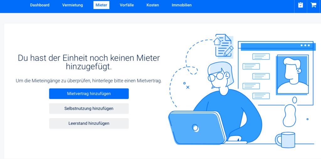 Mieter und Mietverträge online verwalten | vermietet.de | Online-Verwaltung meines Immobilienportfolios