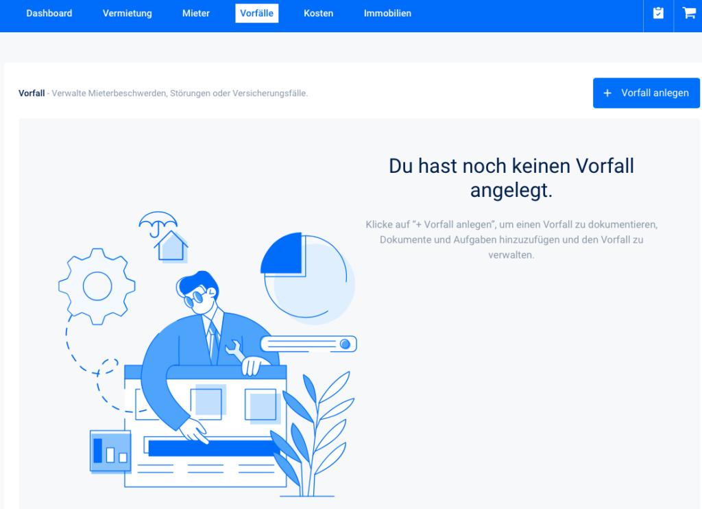 Online Vorfallmanagement | vermietet.de