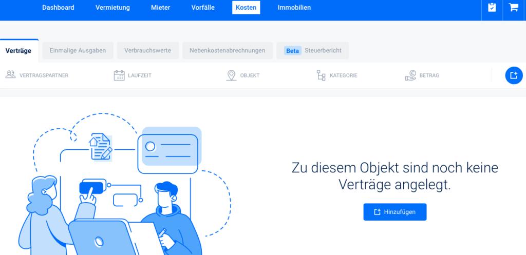 Verträge und Kosten online tracken | vermietet.de